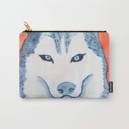 Blue Husky Carry-All Pouch