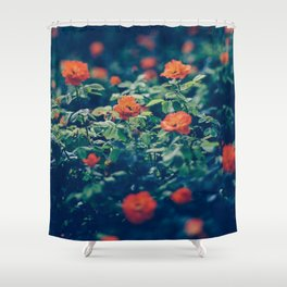 Twilight Roses - Moody Florals Shower Curtain