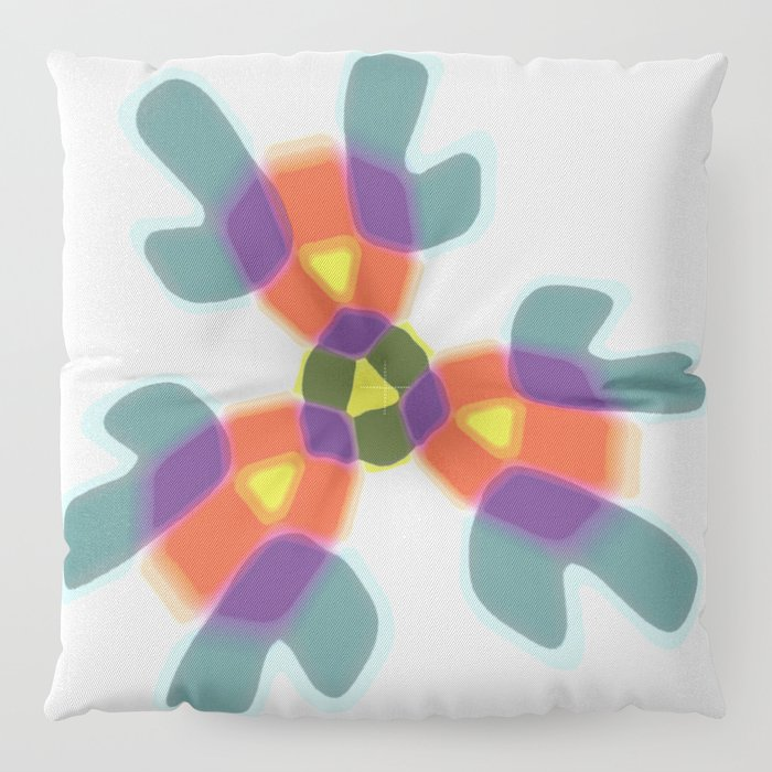 colored trigonal shape Floor Pillow