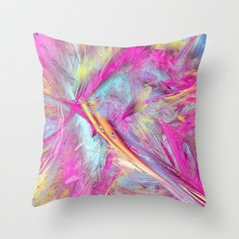 Color abstract Throw Pillow