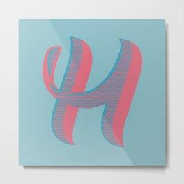 Bold 'H' Dropcap Metal Print