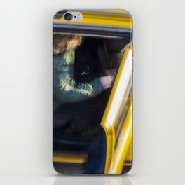 Taxi passenger's coming out iPhone Skin