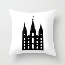 Mormon Style Temple Throw Pillow