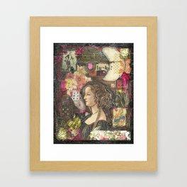 Lucky? Collage Framed Art Print