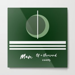 The man of a thousand voices Metal Print
