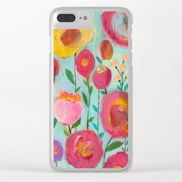 Dream Garden Clear iPhone Case