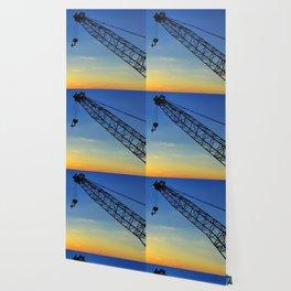 Sunset Construction Crane Wallpaper