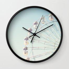 Soft blue ferris wheel  Wall Clock