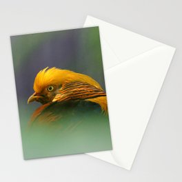 Emerging from the Green: Golden-Red Pheasant Stationery Cards