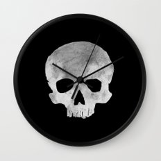 skull Moon Wall Clock
