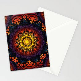 Mandala Mantra Meditation Spiritual Yoga Zen Hippie Bohemian Stationery Cards