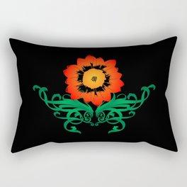 Colorful Flower Rectangular Pillow
