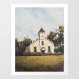 white chapel Art Print