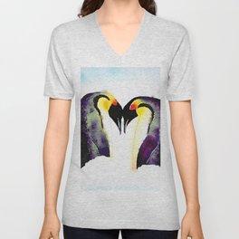 Penguin Love Unisex V-Neck