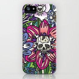 """""""Skull Garden III"""" by Schmiedlin 2013 iPhone Case"""