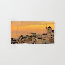 Sunset in Oia, Santorini Hand & Bath Towel