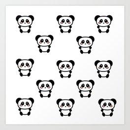 Panda Panda Art Print