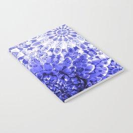 Morocco Oriental Flower Mosaic Gerber blue Notebook