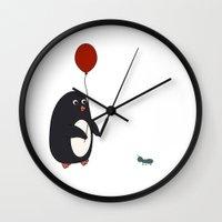 birthday Wall Clocks featuring BIRTHDAY by CharmArtStudio