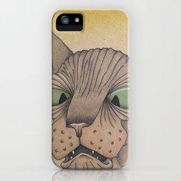 Cross-Eyed Sphynx iPhone Case