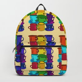 Tea Cups and Coffee Mugs Spectrum Backpack