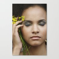 leah flores Canvas Prints featuring Leah by Paloma