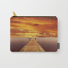 Solitude Sunset on the Lake Carry-All Pouch