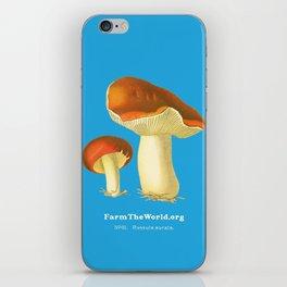 Farm the World - Russula Aurata Mushroom iPhone Skin