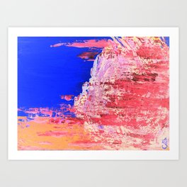 Into the Mist Pantone Color of the Year 2016 Abstract Art Print