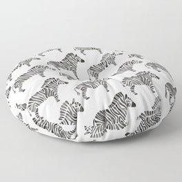 Zebras – Black & White Palette Floor Pillow