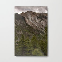 Mount Antero of the Rocky Mountains in San Isabel National Forest in Chaffee County, Colorado, USA on a dark and cloudy day Metal Print