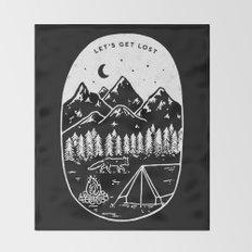 Let's Get Lost III Throw Blanket