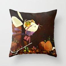 Autumn Mouse Throw Pillow