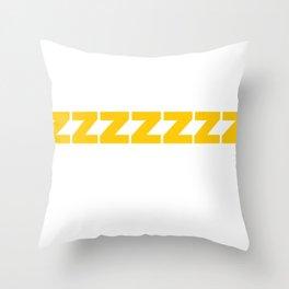 ZZZZZZ Yellow on White Throw Pillow