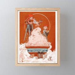Christmas porridge Framed Mini Art Print