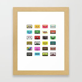 Cassete pattern Framed Art Print