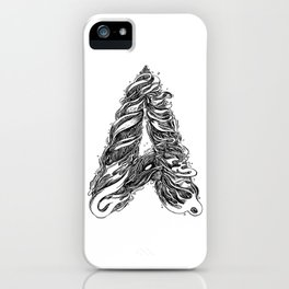 The Illustrated A iPhone Case