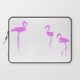 We Are The Three Flamingos Silhouette In Pink Laptop Sleeve