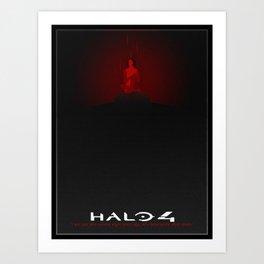Halo 4 Minimalistic Cortana Rampancy Poster Art Print