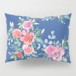 Blue Floral Bouquet Pillow Sham