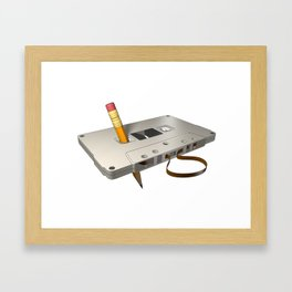 audio cassette /Marek/ Framed Art Print