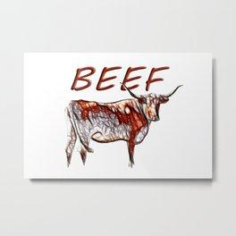 Beef Metal Print