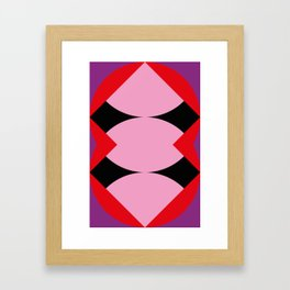 Strange mouth. Red Lips. Three... I said Three Tongues. Purple alien face. Or just a reflection? Framed Art Print