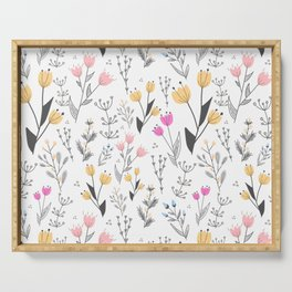 The Cute Floral Pattern II Serving Tray