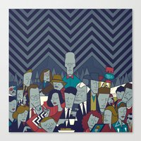 twin peaks Canvas Prints featuring Twin Peaks by Ale Giorgini