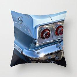 Blue '63 Chevy Impala Throw Pillow