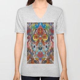 Abstract Mandala Kaleidoscope Design 733 Unisex V-Neck