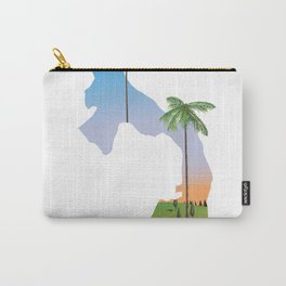 Panama map travel poster. Carry-All Pouch