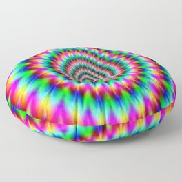 Psychadelic world Floor Pillow