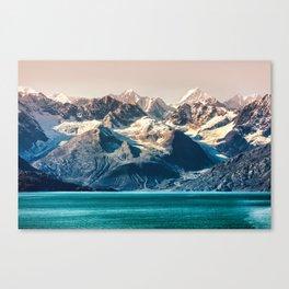 Scenic sunset Alaskan nature glacier landscape wilderness Canvas Print